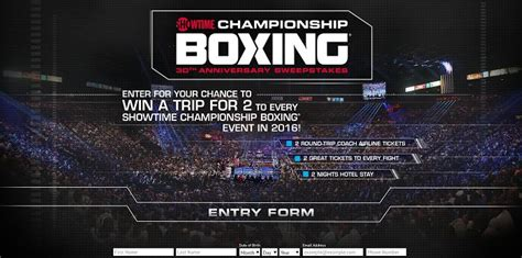 Showtime Boxing Sweepstakes - shochsweeps com showtime chionship boxing 30th anniversary sweepstakes