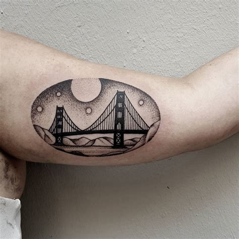 bridge tattoo golden gate bridge done akaberlin tattoos