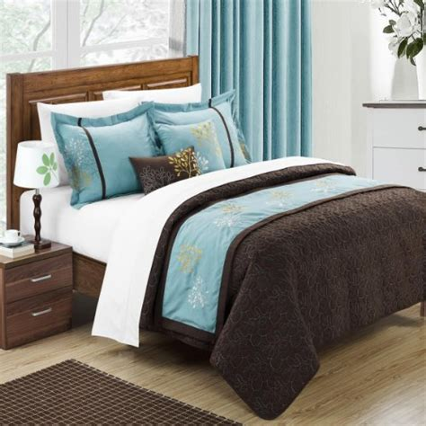 aqua and brown comforter sets aqua turquoise blue and brown bedding