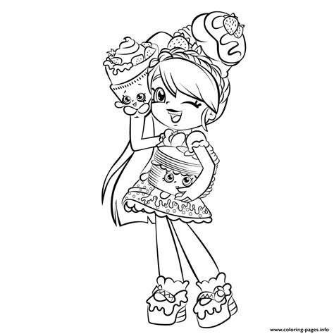Cute Girl Shopkins Shoppies Coloring Pages Printable Free Printing Coloring Pages L