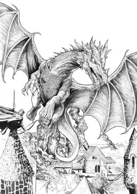 hobbit coloring pages smaug the hobbit coloring page