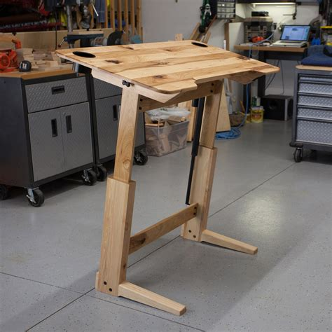 lift bridge standing desk drafting table by