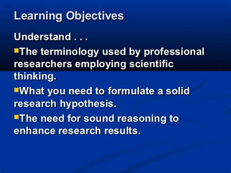 Mba Learning Objectives by Mba2216 Business Research Week 3 Research Methodology 0613