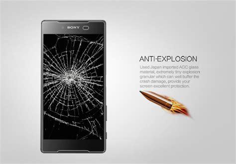 Tempered Glass Nillkin Sony Xperia Z5 Amazing H Pro 1 nillkin amazing h pro tempered glass screen protector for
