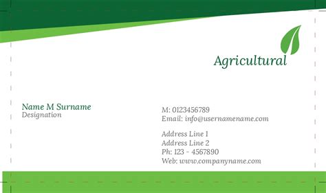 Agriculture Business Cards Templates Free by Business Card