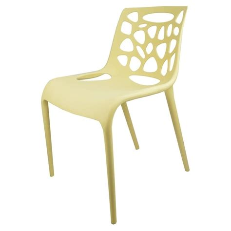 Funky Dining Chair Beige Plastic Funky Designer Dining Chair From Fusion Living