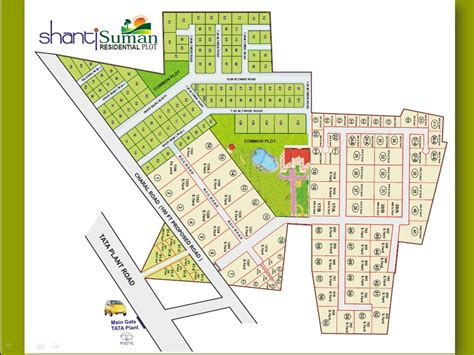 layout land overview shanti suman at opp tata nano plant sanand