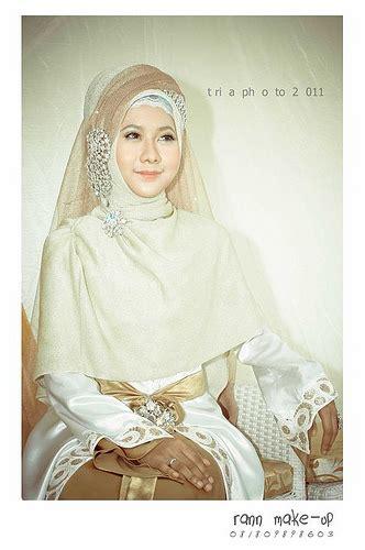 gamis syari bridal veil long wedding islam