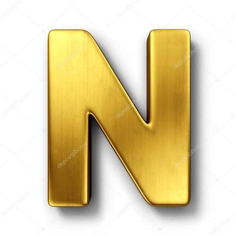 de brief n in goud stockfoto 169 zentilia 8292963