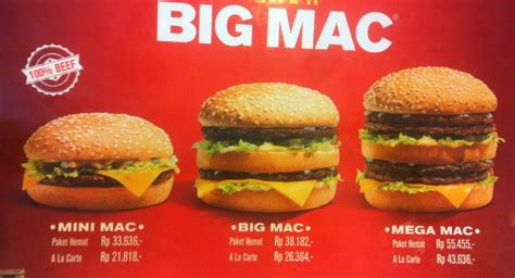 Mac Mini Indonesia kecuali big mac kini ada mini mac dan mega mac di mcdonald s