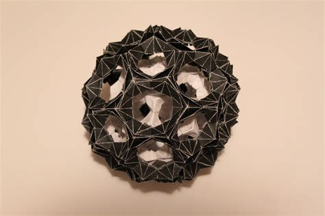 origami buckyball in a buckyball by ivanglas on deviantart