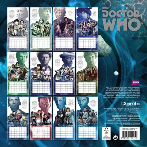 Calendrier Doctor Who Doctor Who Calendrier 2017 Acheter Le Sur Europosters Fr