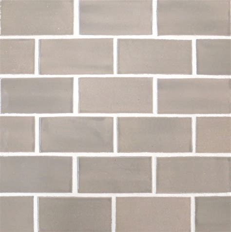 2 quot x4 quot subway tile in light grey modern tile other metro by mercury mosaics and tile