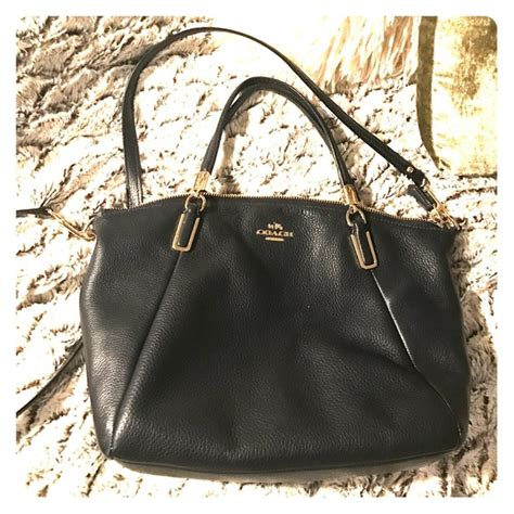 Coach Leather Midnight 69 Coach Handbags Coach Pebbled Leather Kelsey Navy