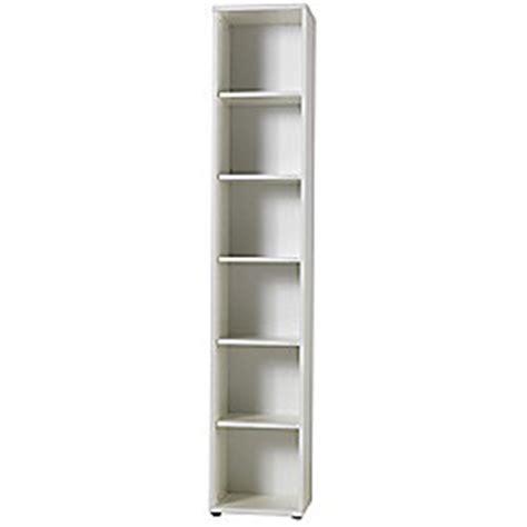 Buy Modal Mura Five Shelf Bookcase In White Melamine White Melamine Bookcase