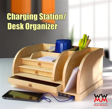 desk organizer  charging station desk organization