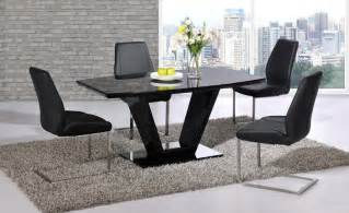 Black High Gloss Dining Table And 6 Chairs Black Glass High Gloss Dining Table Set And 6 Chairs