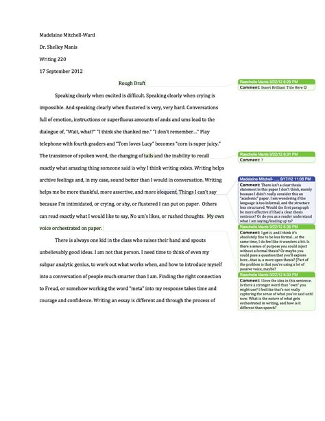 theme in literature rough draft why i write 2nd rough draft 1 madelaine mitchell ward