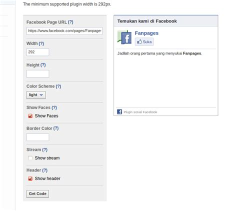 membuat facebook like box di website membuat facebook like box di blog