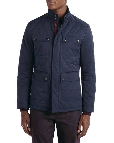 Ted Baker Quilted Jacket by Ted Baker Dreavyn Four Pocket Quilted Jacket In Blue For