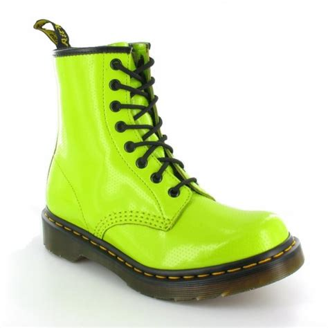 lime green boots dr martens 1460w qq dot womens 8 eyelet ankle boots lime