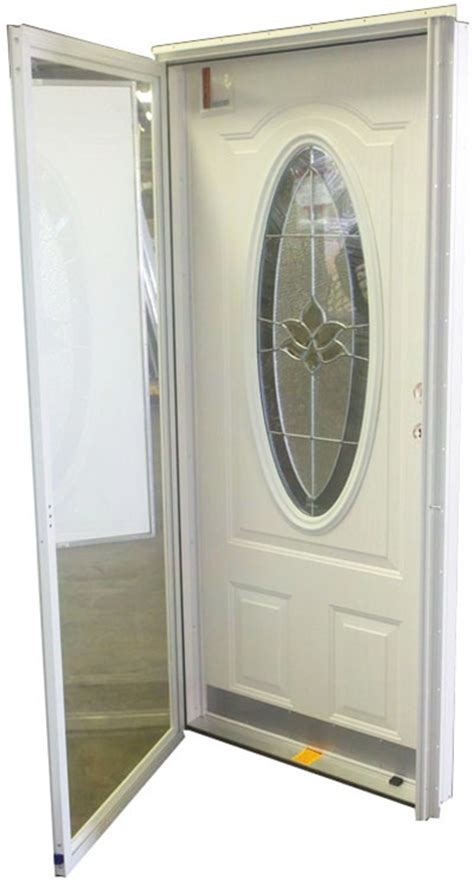Mobile Home Exterior Door 32x76 3 4 Oval Glass Door Rh For Mobile Home Manufactured Housing