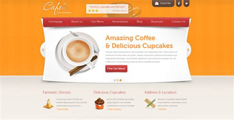 Free Cafe Web Template Template Cafe Website Template