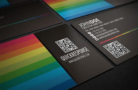 cool business card template with qr code cardrabbit com