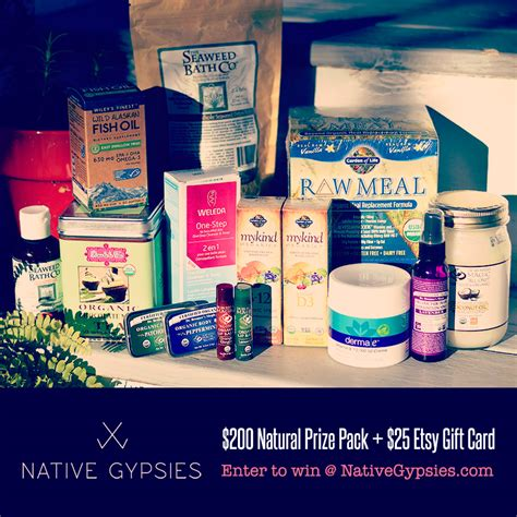 Etsy Gift Card - 200 natural prize pack 25 etsy gift card native gypsies
