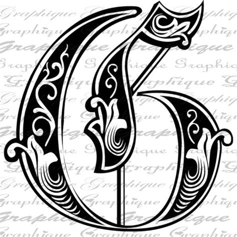 Engraving Letter Templates by Letter Initial G Monogram Engraving Style Type By