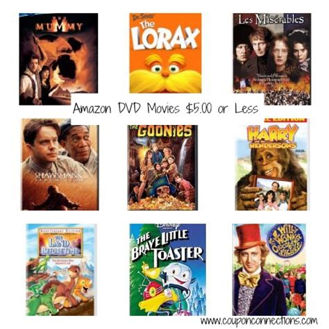 amazon movie amazon dvd movie list 5 00 or under coupon connections