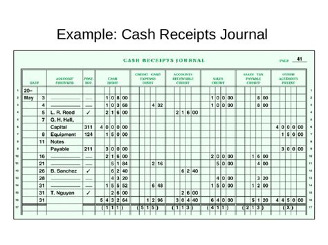 disbursement journal template receipts journal template free printable