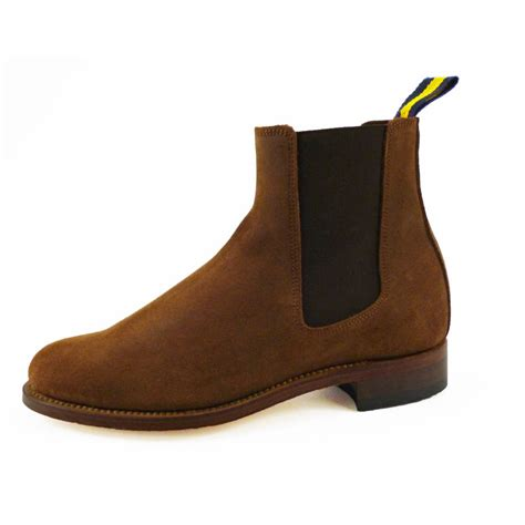 womans suede boots s suede chelsea boot by dukes boots