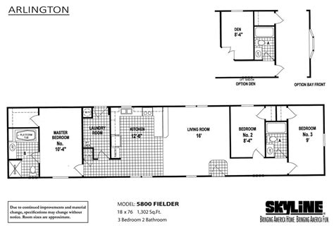 skyline homes floor plans arlington 5800 fielder by skyline homes