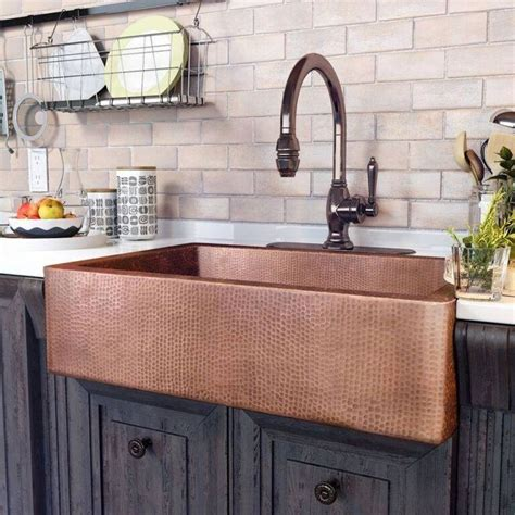 Kitchens With Copper Sinks White Kitchens With Copper Sinks Kitchen Sink