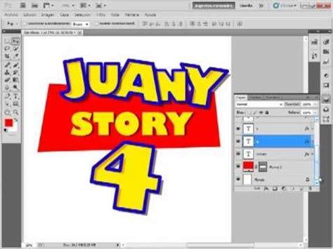 toy story logo tutorial 1 2 youtube