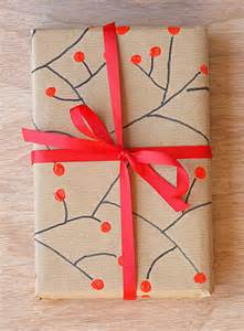 Craft Paper Wrapping - cherry decorated wrapping paper easycraftsforchildren