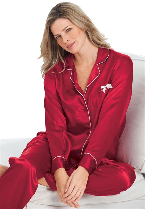 Piyama Size 7 plus size 2 satin pjs by amoureuse 174 plus size