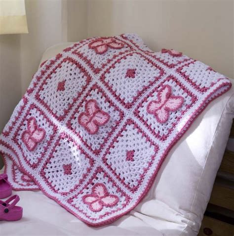 crochet pattern baby blanket butterfly afghan throw ebay