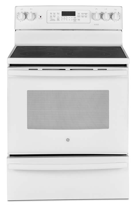 Electric Range With Warming Drawer by Ge 5 0 Cu Ft Freestanding Electric Range With Warming