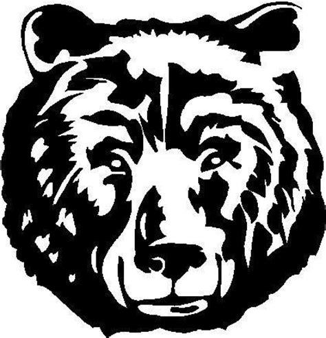 black vinyl decal bear face hunt bow gun grizzly fun