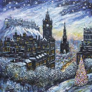 edinburgh at christmas cards st columba s hospice