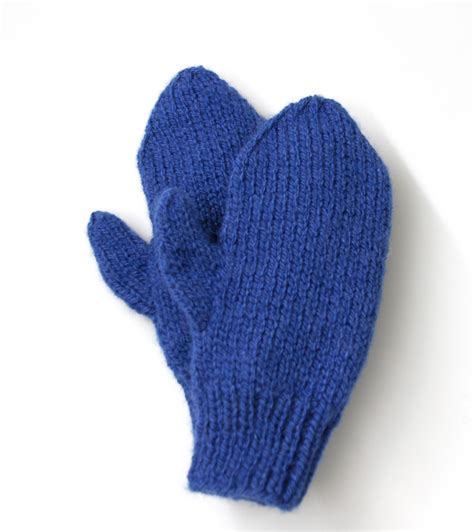 knitting pattern for mittens easy knit mittens in lion brand jiffy 80673b knitting