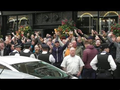 millwall vs leeds utd leeds fans london bridge 2017