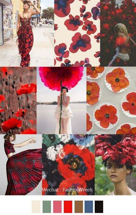 mood board summer flower color inspiration   http