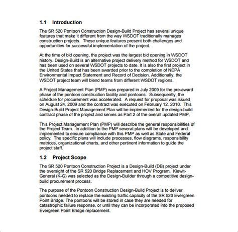 project management project plan template 15 project management plan templates free sle