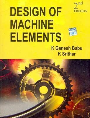 design machine elements best books for machine design