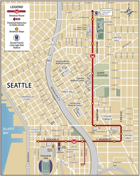 seattle map go hill streetcar could new connections for