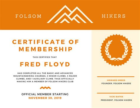 canva membership certificate templates canva