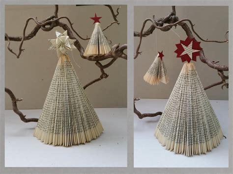 weihnachtsbaum aus papier diy weihnachtsbaum aus buch falten handmade kultur
